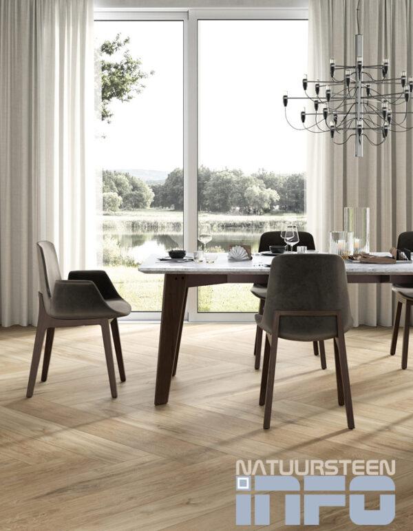 Keramiek Houlook Chardonnay 1490x230x10mm vloertegel zitkamer Natuursteeninfoshop