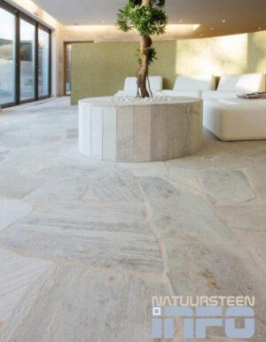 Brasil white quartzite Flagstones vloer